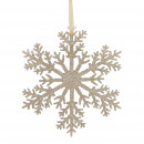 Plastic flake freeze, for hanging, D20cm, gold